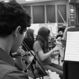 Orchestra students