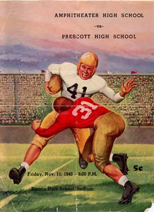 Prescott High School historical football program bulletin