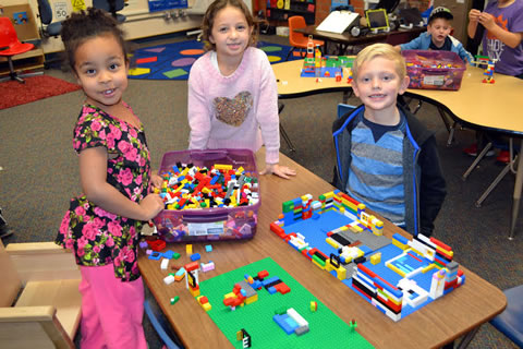 Students in Lego after-school club