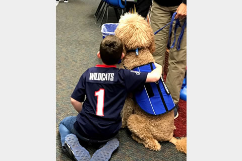 Pet Therapy at Taylor Hicks School