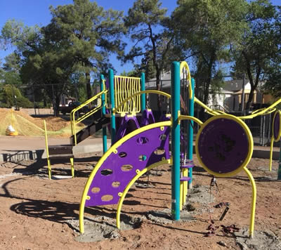 Lincoln preschool playground under construction