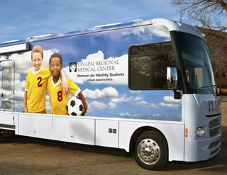 YRMC Partners for Healthy Students Bus