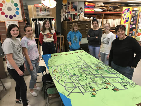 PHS Art Students Complete Mural for City of Prescott