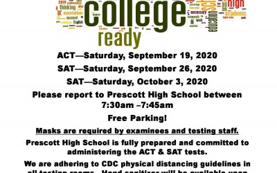 Prescott High School is fully prepared and committed to administering the ACT & SAT tests.
