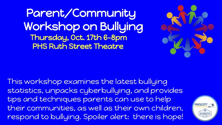 Workshop on Bullying 10.17 from 6-8pm