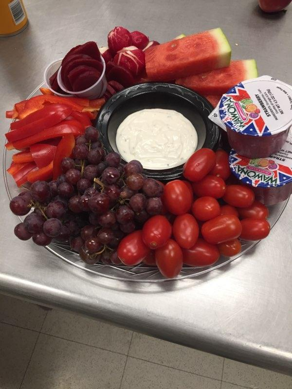 Check out our Red Salad bar for Valentine's Day!