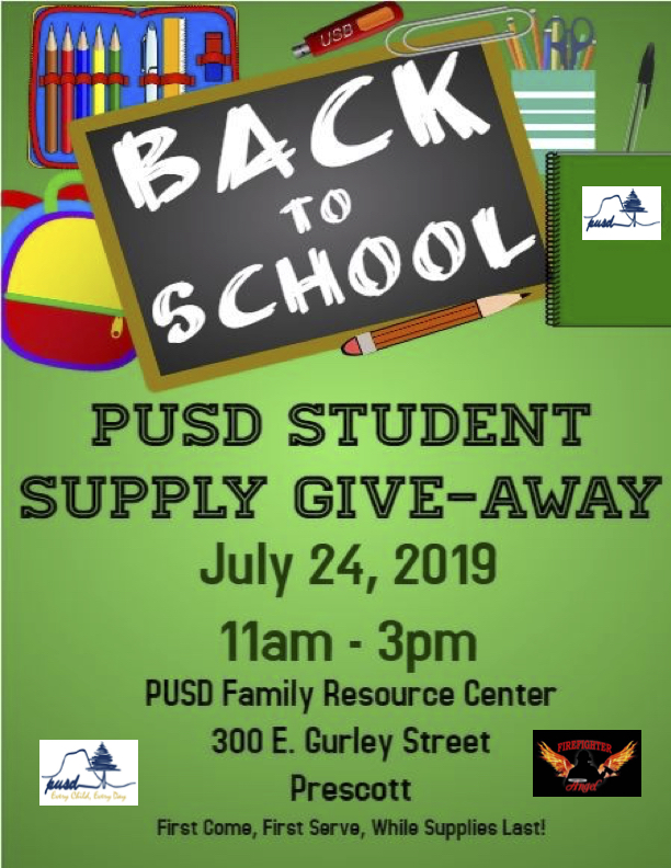 School Supply Give-Away!!! July 24th