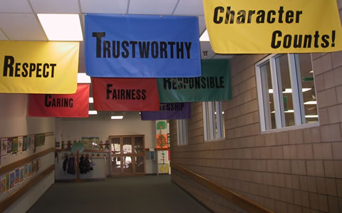 Character education banners