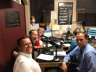 Administrators in radio studio