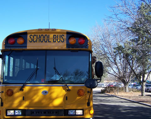 Bus at school